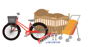 ベビー用品・おもちゃ・ホビー・自転車の買取対象品の画像